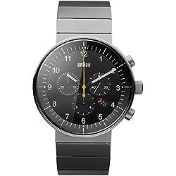 Braun Unisex-Armbanduhr Analog Quarz Edelstahl beschichtet BN0095BKSLBTG