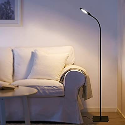 Aglaia Floor Lamp Dimmable, 6.8W LED Touch Lamp with 3 Level Brightness and Eye-Cared Light, Nature White Lighting for Reading, Writing and Studying