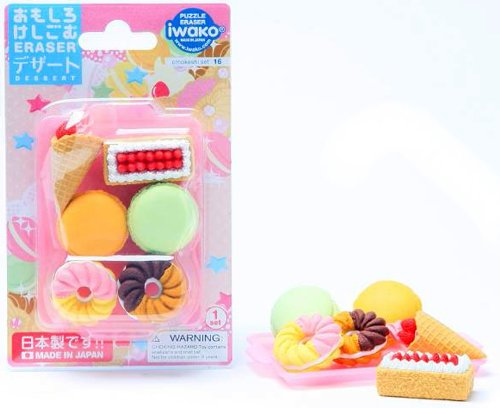 Iwako Japanese French Pastry Eraser Set by Iwako
