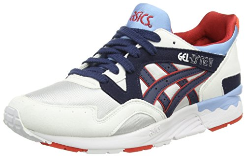 ASICS - Gel-Lyte V Gs, Sneakers Basse da unisex - adulto, grigio (soft grey/navy 1050), 39