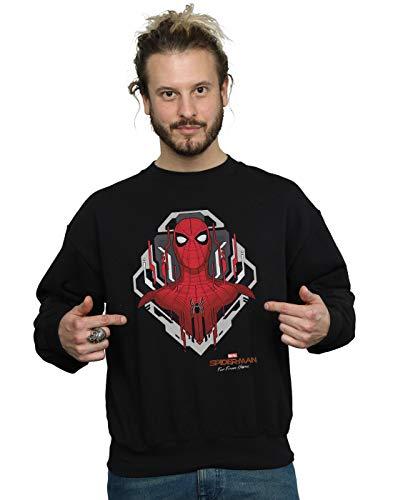 Marvel Herren Spider-Man Far from Home Web Tech Badge Sweatshirt Schwarz Small -