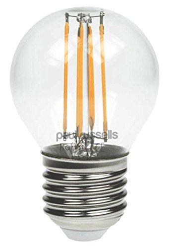 6x Vintage Stil Edison Schraube LED Filament klar 2W Golf Leuchtmittel G45Kleine runde Globe 360Abstrahlwinkel Lampe E27ES 2700K warmweiß 25W Glühlampe Ersatz [6Stück Leuchtmittel] - Globus Mittlere Schraube