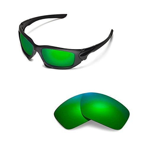 Walleva Ersatz Linsen für Oakley Skalpell und Sonnenbrille-Zahlreichen Optionen, Unisex-Erwachsene, Emerald Mirror Coated - Polarized, Einheitsgröße