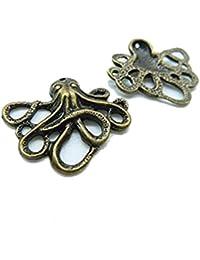 aa573a98be5 20 pcs 21 x 24 mm Bronze antique Mini Petite pieuvre Poisson Charm  pendentif C2904
