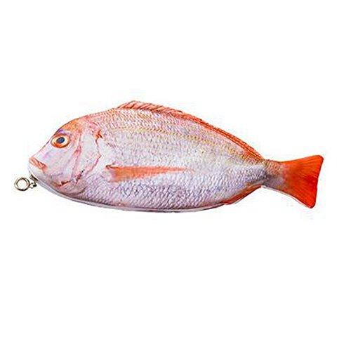 Lumanuby 1 Stück Pencil Case Wasserdichtes Oxford Tuch Material Stifttasche Neuartige lebensechte Seefischform Design Bleistiftbeutel Einzigartiges Geschenk für Freunde liebt Fische Größe 28*11.5cm,Stil B (Stil Tuch Ein Stück)