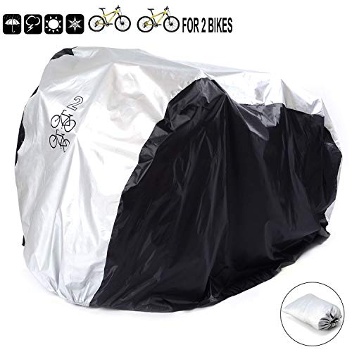 Pasway 26 Bicycle Bicycle Cover for Two Bicycles' Bicycle Cover (Silver)
