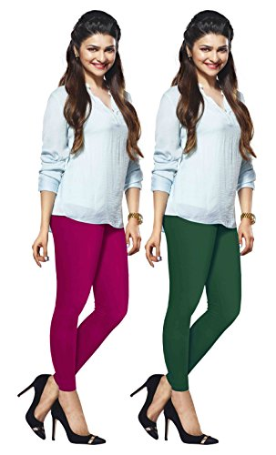 Lux Lyra Ankle Length Leggings, Pack of 2