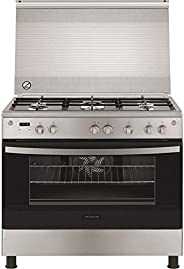 Frigidaire Free Standing Gas Cooker, Silver -FNGE90JGRS, 1 Year Warranty