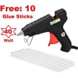 billionBAG 40 Watt with FREE 10 Glue Sticks Hot Melt Electronic Glue Gun, High Tech Heating Technology, for Art Craft/DIY/Woods/Paper/Cloth/Science Projects/School Projects (10 Glue Gun Stick Included)
