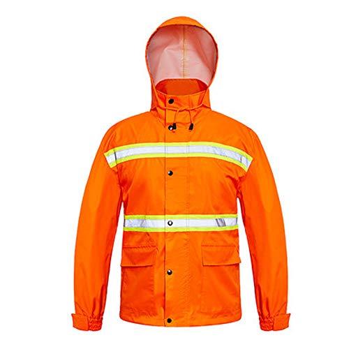 Reflektierender Regenmantel - Hygiene Arbeiter Kleidung Verdickung Erwachsener Split Arbeitsversicherung Wasserdichte Overall Regenmantel Regen Hosenanzug Gute Qualität (größe : XL)