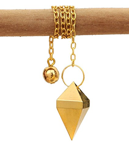 Alterras - Pendel: Pyramidenschliff vergoldet Kunststoff-Schutzhülle (HxB: 25x12mm) (Bronze-guss Vergoldete)