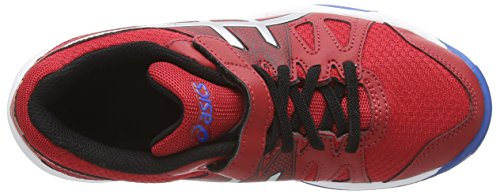 Asics Pre-upcourt Ps, Unisex-Kinder Hallenschuhe Rot (fiery Red/silver/electric Blue 2393)