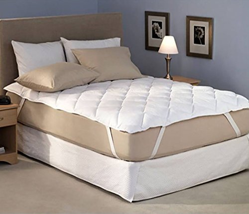 "Home Elegant Waterproof & Dustproof Fitted Mattress Protector King Size (Size: 72""x78"", White)"