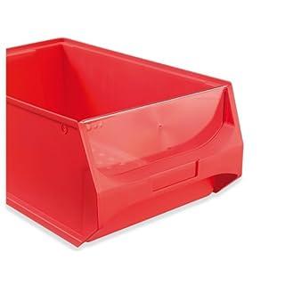 ab-in-die-BOX Frontblende für Sichtlagerbox Größe 5, 4 Stück, transparent, stabile Schutzplatte, passend zur stapelbaren Sichtbox der Größe 500x300x200 mm