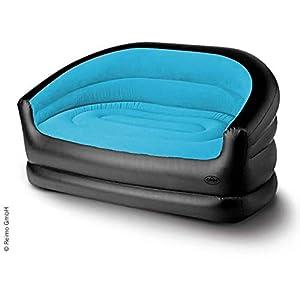 Camp4 Aufblasbares Sofa Relax Double, 145x78x65cm, schwarz/eisblau (932992043)