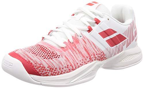 Babolat Damen Tennisschuhe Indoor Propulse Blast Indoor Weiss/rot (908) 38,5EU (Indoor-schuhe Babolat)