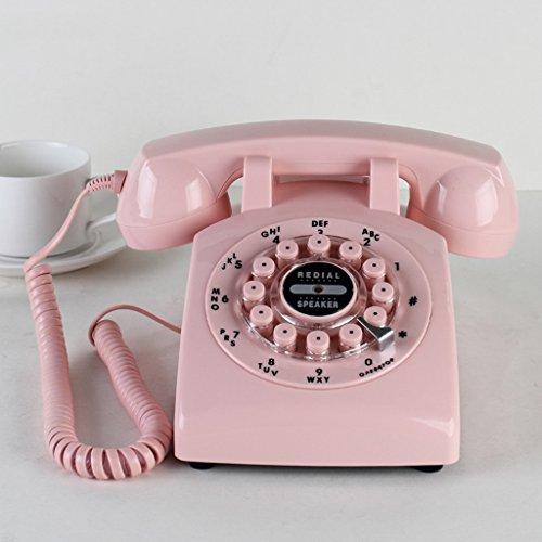 WTL Retro Telefon Festnetz Europa-Stil Vintage Europa Und Die Vereinigten Staaten Ländlichen Wohnzimmer Schlafzimmer Haushalt Telefon (Color : Pink) Europa-telefon