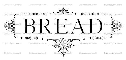 Antike Brot (Möbel-Holz-Aufkleber, Bild Transfer Vintage Antik Etiketten Brot DIY)