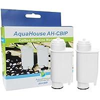 2x AH-CBIP Compatible filtro de agua para Brita Intenza+, Philips Saeco CA6706/48, CA6702/00, Gaggia, Lavazza Cafeteras