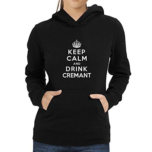 Eddany Keep calm and drink Cremant Damen Hoodie