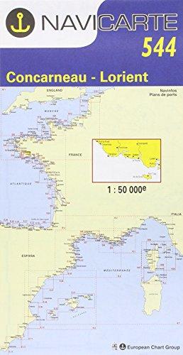 Carte marine : Concarneau - Lorient - Île-de-Groix