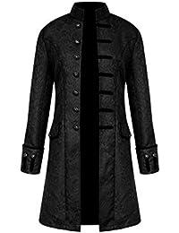 Long Décontracté Punk Steampunk Rétro Homme Veste Costume Lâche Manteau Vintage Unie Gothique Couleur 5q0xpRB