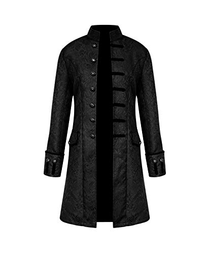 Shaoyao Chaqueta Steampunk Jacquard Medieval Renacentista