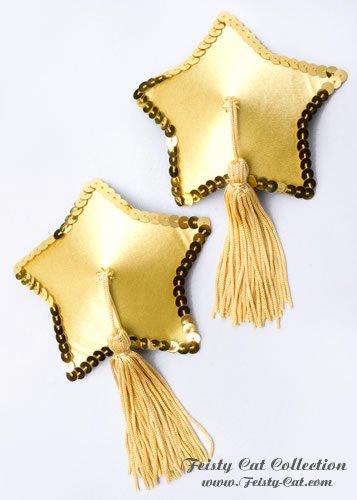 schicke-sternformige-pasties-mit-tassels-star-patrol-gelb-gold