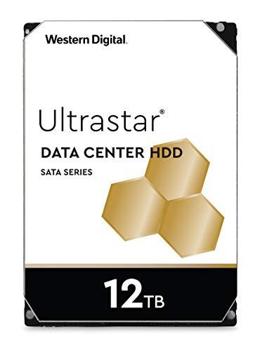 Sata Festplatte Server (Western Digital WD Ultrastar 12TB DC HC520 SATA HDD, 3,5 Zoll interne Festplatte für Server 256 MB Cache, Enterprise Klasse)