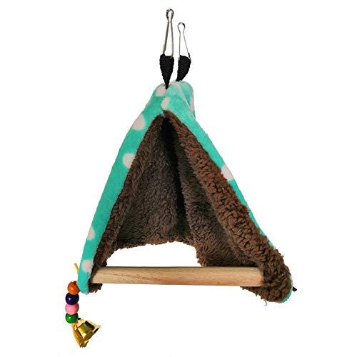 finelyty Kleinigkeit Vogel Barsch Zelt Medium Bird Toy , Birdhouse Hängematte Swing Warm Cotton Nest Toy (Vogel-zelt Medium)