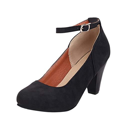 TUDUZ Zapatos De Tacón Medio Cómodos Hebilla Plana