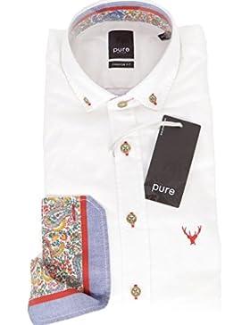 Hatico Mode Pure Hemd Weiss 900 Uni Slim
