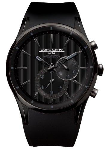 Jorg Gray - JG5100-32 - Montre Homme - Quartz Chronographe - Bracelet Silicone Noir