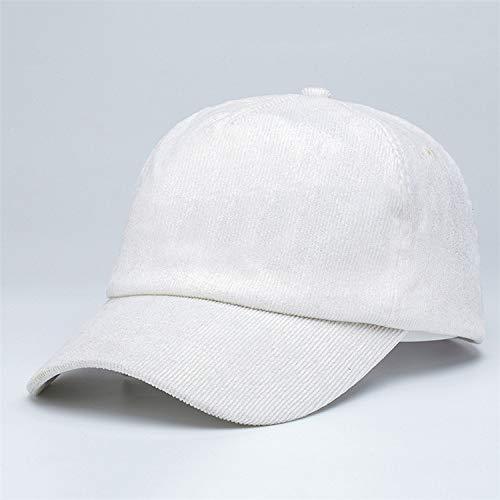 sdssup Berretto di Velluto a Coste Tinta Unita Autunno e Inverno Cappello Caldo Berretto da Baseball Semplice Cappello da Sole Personalizzato Bianco Regolab