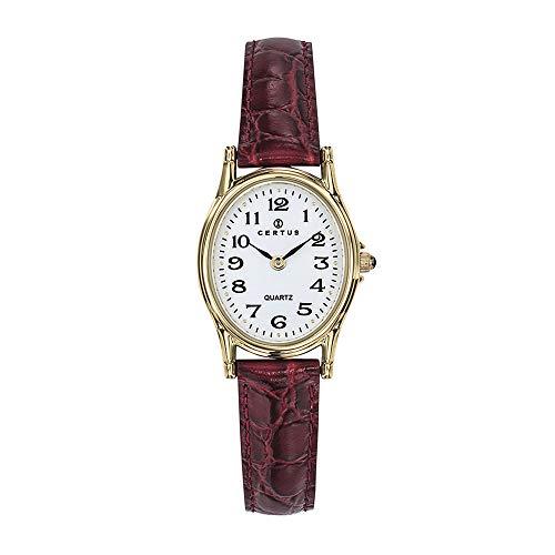 Certus Reloj Analógico para Mujer de Cuarzo con Correa en Cuero 646448