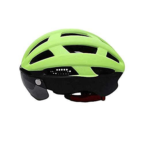 KRrcher Magnetschutzbrille Helm Mountainbike/Fahrrad/Fahrradhelm/Männer und Frauen Helmlampe Helm @ Fluorescent,gelb,Specialized Fahrradhelm MTB Helm,Mountainbike Helm...