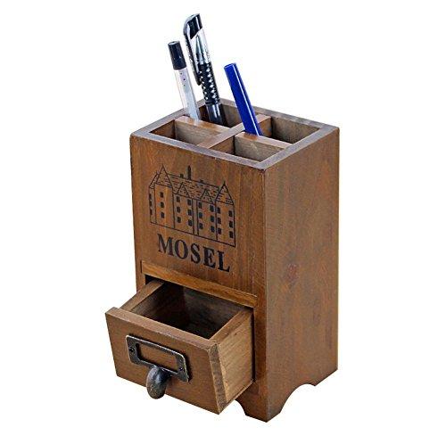Demarkt Multifunktions-Aufbewahrungsbox Bücherregal Inhaber der Lagerung Retro Holz Schreibtisch...