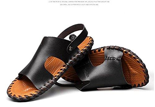 Solas 44 Aberto De Beauqueen Homem Tamanho Exteriores Sapatos Anti Suaves Verão Dedo Chinelos Dupla derrapante De Esporte Casuais Utilização 38 De Preto Sandálias Eu Casuais Praia Do pqwxAzq4Z