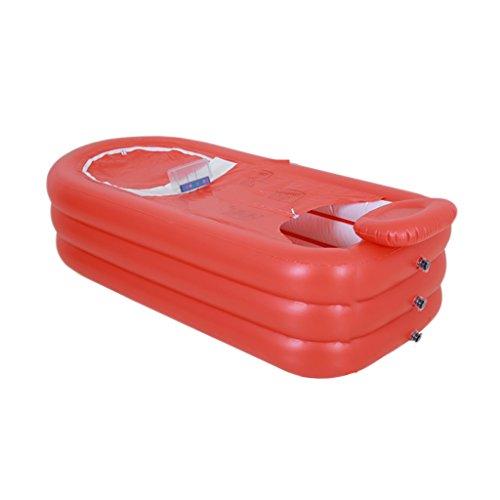 TXOZ Aufblasbare Badewanne, Doppel-Badewanne Haushalts-Erwachsenen-Kunststoff Badefass zusammenklappbar Aufblasbare Badewanne Badewanne (Farbe : #2) -