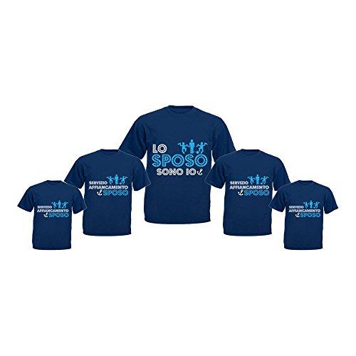 Altra marca pacchetto 5+1 t-shirt blu navy magliette da uomo personalizzate per addii al celibato servizio affiancamento sposo