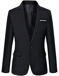 01ac45f6d Slolvedi Men Blazer Suit Coat Jacket Outwear Tops Fashion Slim Fit Formal  One Button