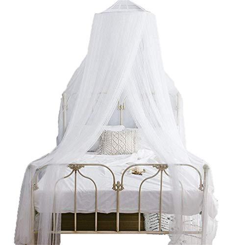 MXK Moskitonetz Betthimmel Für Kinder Fliegen Insektenschutz Indoor/Outdoor Dekorativ, Prinzessin Style Lace Trim Gaze (Size : 1.5M/Bed) Trim Gaze