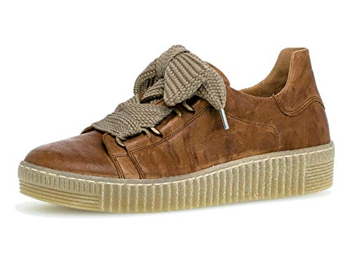 Gabor Damen Sneaker 33.330, Frauen Low-Top Sneaker,Halbschuh,Schnürschuh,Strassenschuh,Business,Freizeit,Copper (Natur),41 EU / 7.5 UK