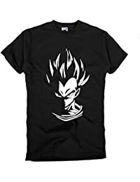 GIOVANI & RICCHI Herren Super Vegeta Blaue Haare Fitness Shirt T-Shirt God ModusSaiyajin in verschiedenen Farben