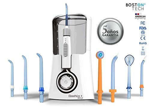 Clean Pulse One Munddusche mit 7 Düsen im Etui Fünf Leistungsstufen und drei Betriebsmodi. Optimieren Sie Ihre Mundhygiene, empfohlen von Zahnärzten. (Clean Pulse)