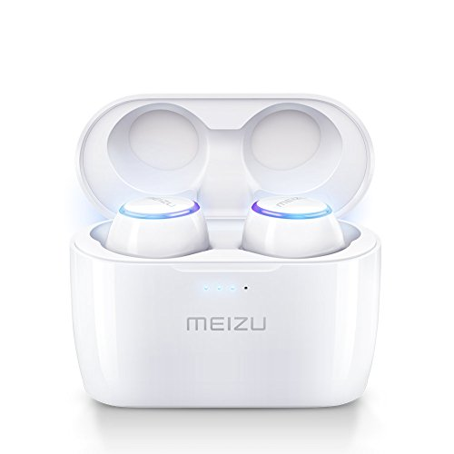 Meizu True Wireless Earphones,POP TW50 Bluetooth Headphones Wireless Earbuds Liberty Lite 15H Playtime With Wireless Charger,Touch Control,Noise Cancelling,Built-in Mic,Portable Wireless Charging Case