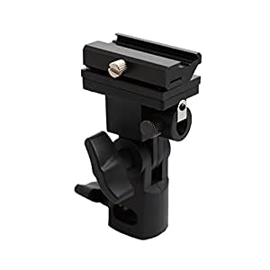 Kaavie Universal Swivel Hot Shoe Flash Holder Type B for Light Stand with Umbrella Lock