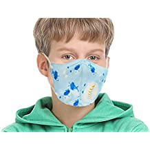 Vritraz N95 PM 2.5 Kids Child Children Anti-Pollution Activated Carbon Face Mask with Breathing Valve (,Pack of 1)