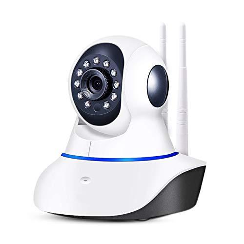 PETCUTE Überwachungskamera, Indoor-Überwachung, Webcam, Wireless Wifi-Kamera, Nachtsicht, Bewegungserkennung, Zwei-Wege-Audio, Nanny/Baby / Haustier-Monitor -