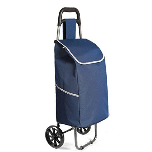 Leichter Faltbarer Einkaufswagen | Warenkorb Trolley Koffer Gepäck 2 Verschleißfeste PU Rad Ergonomischer Griff Zusammenklappbare Pull Carts Oxford Tuch Einkaufstasche Warenkorb Große Kapazität 30L